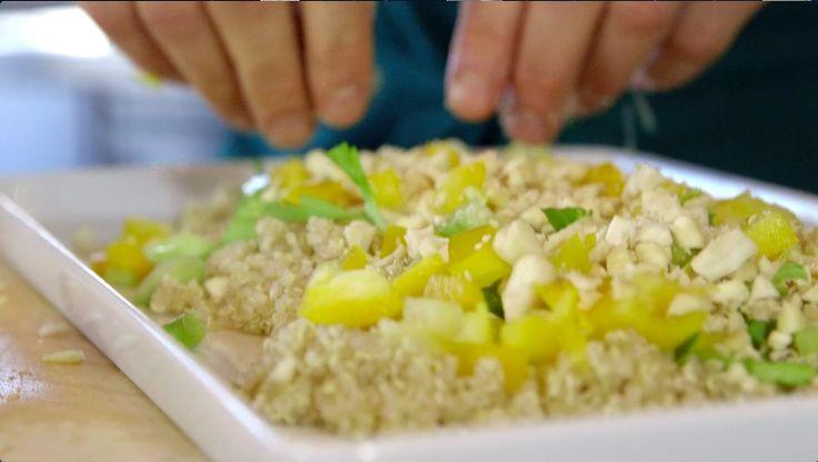 insalata di quinoa con mele