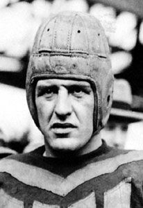 Nick Purdom - Red Grange was the most famous football player during the 1920's. He is credited with the best individual performance by any college football player ever, running for 402 yards, scoring 5 touchdowns and passing for another. He is also credited with saving the NFL, which was struggling at the time. Attendance skyrocketed for the Chicago Bears after he was drafted.