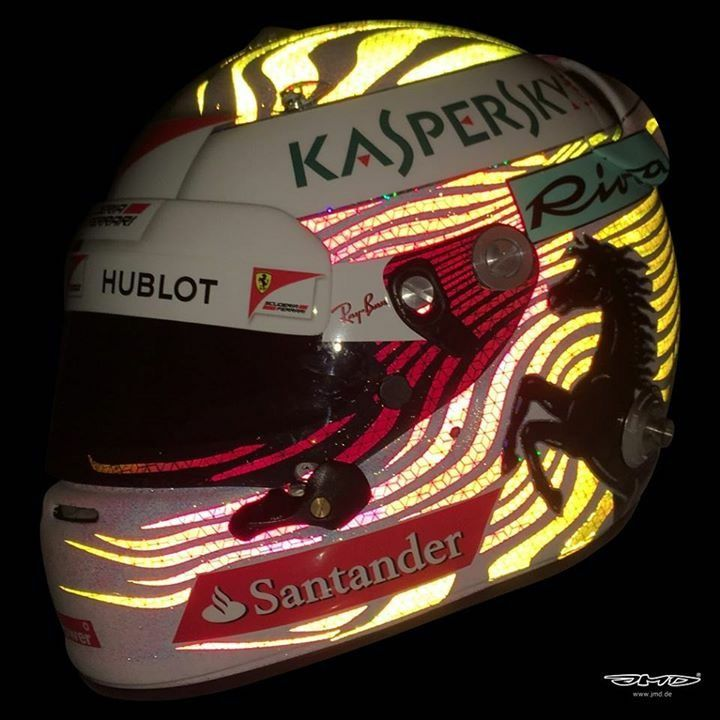 Vettel Helmet Design Singapore GP 2017. Made by JMD