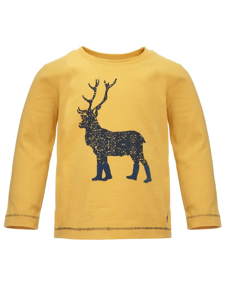 Stag in Wellies T-shirt BB | Yellow | Monsoon: Wellies T Shirt, Design Stag, T Shirt Bb