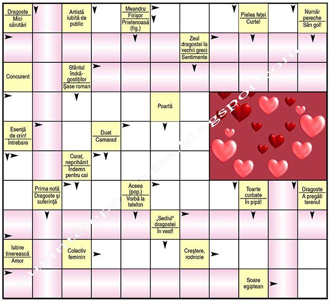 Blog cu careuri de cuvinte incrucisate, crosswords, rebus, careuri de definitii, jocuri, enigme