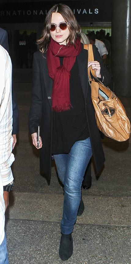 105 Celebrity-Inspired Outfits to Wear on a Plane - Keira Knightley from #InStyle