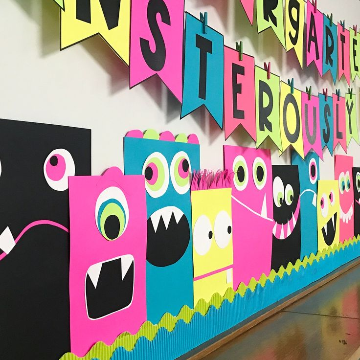 Here's a fun, easy and inexpensive bulletin board idea to welcome your friends with some monsterously good fun.