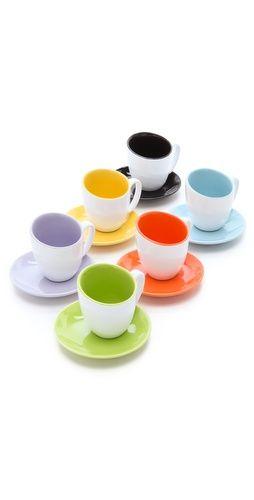 Colorful Espresso Cup Set $30