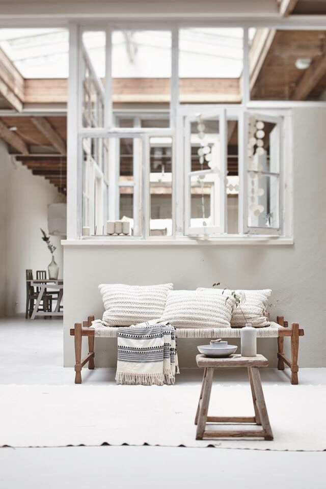 Glassed in kitchen | Rustic | White + Natural | Modern Home Interiors | Contemporary Decor Design #inspiration #nakedstyle