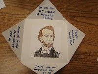 Great foldable idea for social studies or science.
