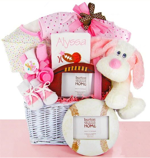 New Baby Gift Wrapping Ideas : Best baby girl gift baskets ideas on