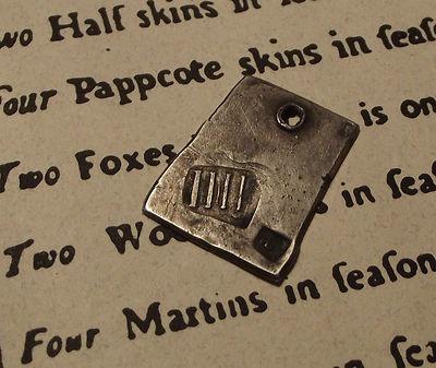 Antique IIII Hudson Bay Company Fur Trade Piece / Fur Tag