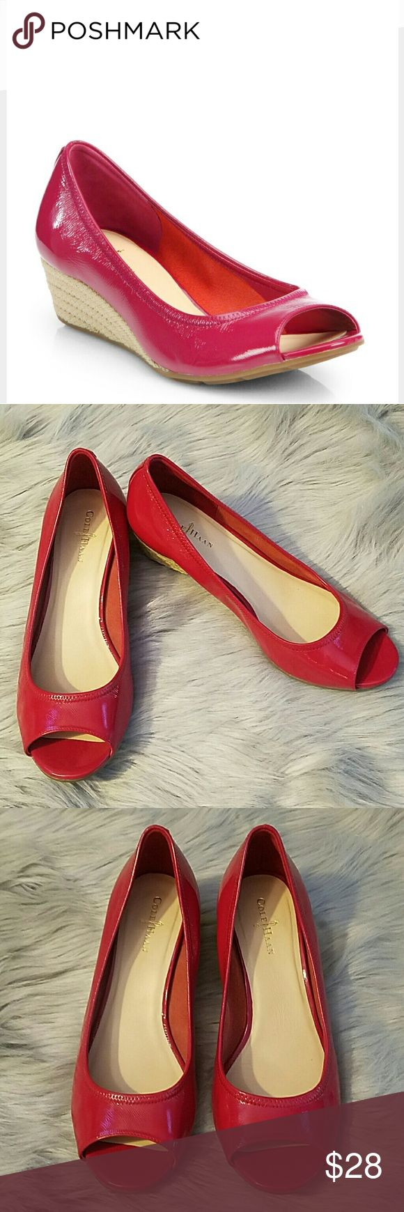 Cole Haan Patent Leather Peep Toe Wedges - 6.5 Excellent condition. Size 6.5. Cole Haan Air Tali Wedge Pump. Cole Haan Shoes Heels