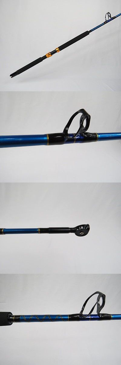 Saltwater Rods 179948: Brand New 100Lb Saltwater Fishing Rod - Turbo Guide W/ Roller Tip BUY IT NOW ONLY: $40.0
