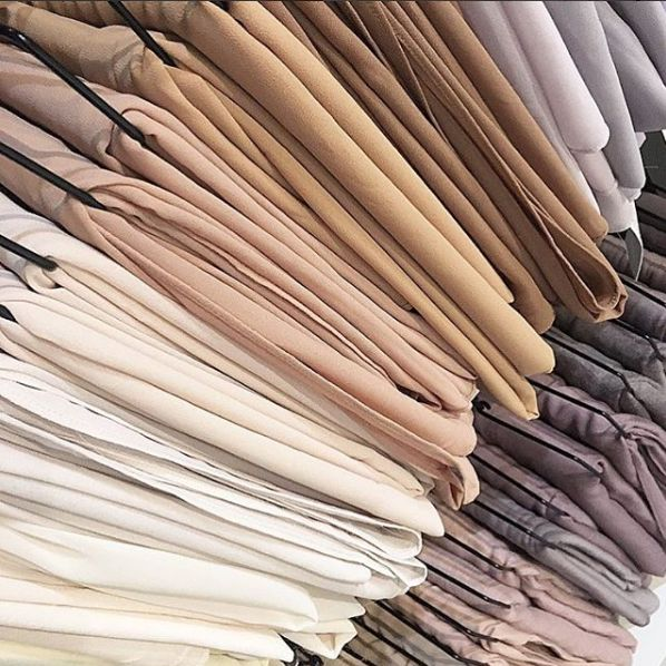 INAYAH | Shop our new Soft Crepe and Peach Skin #Hijab Collection. Exclusively hand-dyed in natural and neutral hues. www.inayah.co