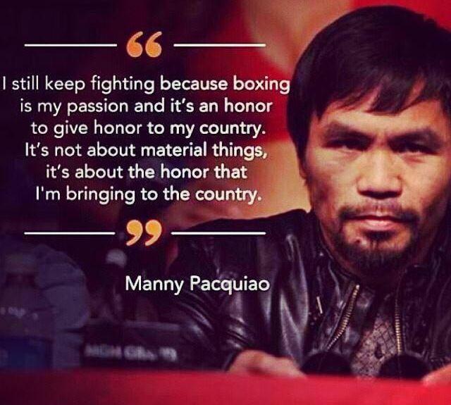 Legend. Manny Pacquiao.