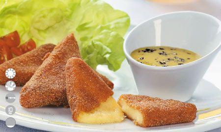 Triángulos de queso mozarella apanados, Recetas - Edición Impresa CocinaSemana.com - Últimas Noticias