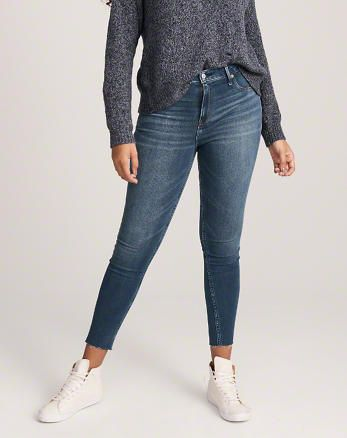 6950d0e205 High Rise Ankle Jean Leggings, MEDIUM WASH | Shop With Style in 2019 ...