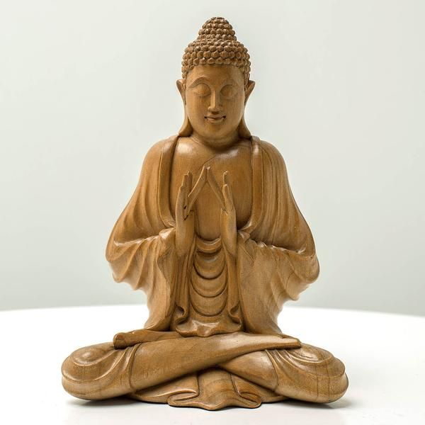 Preaching Buddha Sculpture - Handcrafted wood sculpture from Bali. Spiritual decoration for unique places... Buddha's mudra is symbolizing his preaching after enlightenment. #art #bali #balinese #handcrafted #decoration #decorativeart #dekor #elyapımı #woodart #zanaat #buddha