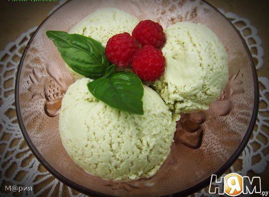 Базиликовое мороженое