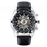 Amazon Angebote Herrenuhren avaner Casual Herren Skelett Zifferblatt selbst Aufziehen Automatische Mechanische Armbanduhr…%#Quickberater%
