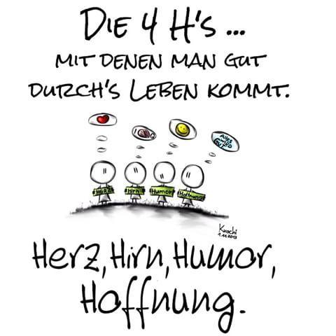🎨 Die 4 H's mit denen man #gut durchs #leben kommt ... #Herz #Hirn #Humor #Hoffnung 😉 Alles wird gut ✌️ #sketch #sketchclub #painting #freitag #wochenende #love #it... genießt es alle 😊
