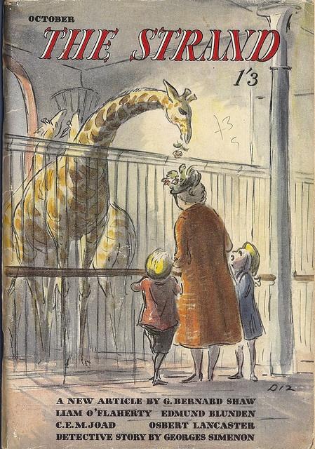 The Strand Magazine - October 1947 - cover by Edward Ardizzone (Diz) by mikeyashworth, via Flickr