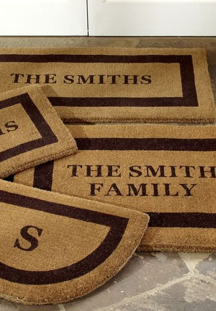 Super cute housewarming gift! Personalized Doormat #potterybarn