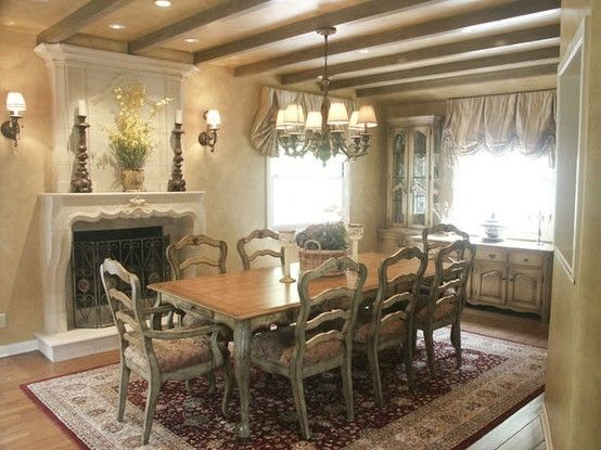 Dining Room Old World Style Home Decorating Ideas With Chandelier