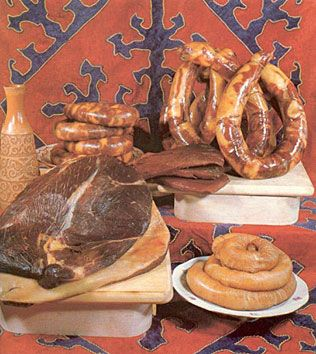 The Kazakh Olympic team is hoping to boost its chances of sporting success at London 2012 with horsemeat sausages