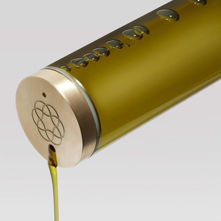 Packaging we like / Bottle / Tubical / Olive Oil / Evolvia/ by Evolve organic extra virgin olive oil bottle