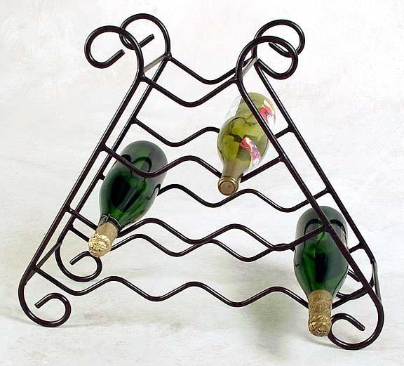 10 Bottle Wrought Iron Wine Rack