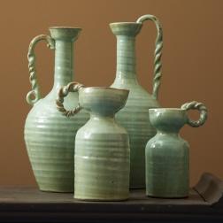 S/4 Celadon Mediterranean Vase