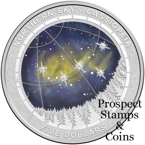Royal Australian Mint :: 2016 Coin Releases :: 2016 Northern Sky - Cassiopeia 1oz Five Dollar Silver Proof Domed Coin
