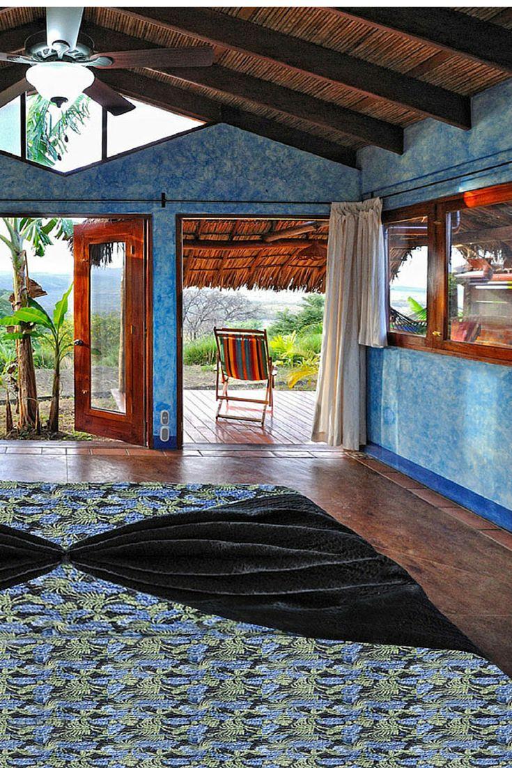 Blue Hues at Hacienda Puerta del Cielo in Masatepe, Nicaragua