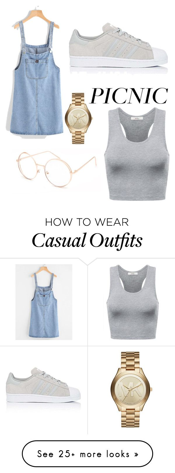 """""""Casual Picnic Date"""" by singsoong on Polyvore featuring adidas, Michael Kors and Full Tilt"""
