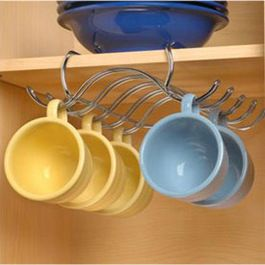 I'd like this if was inside the cabinet and can't be seen. Its chaotic trying to stack coffee mugs on top if one another.