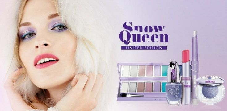 Pupa presenta la nuova linea make-up Snow Queen, per il Natale 2014. Ombretti, rossetti e smalti hanno colori  brillanti dalle sfumature glaciali. http://www.stilemagazine.it/snow-queen-nuova-linea-make-up-pupa-per-feste-2014/
