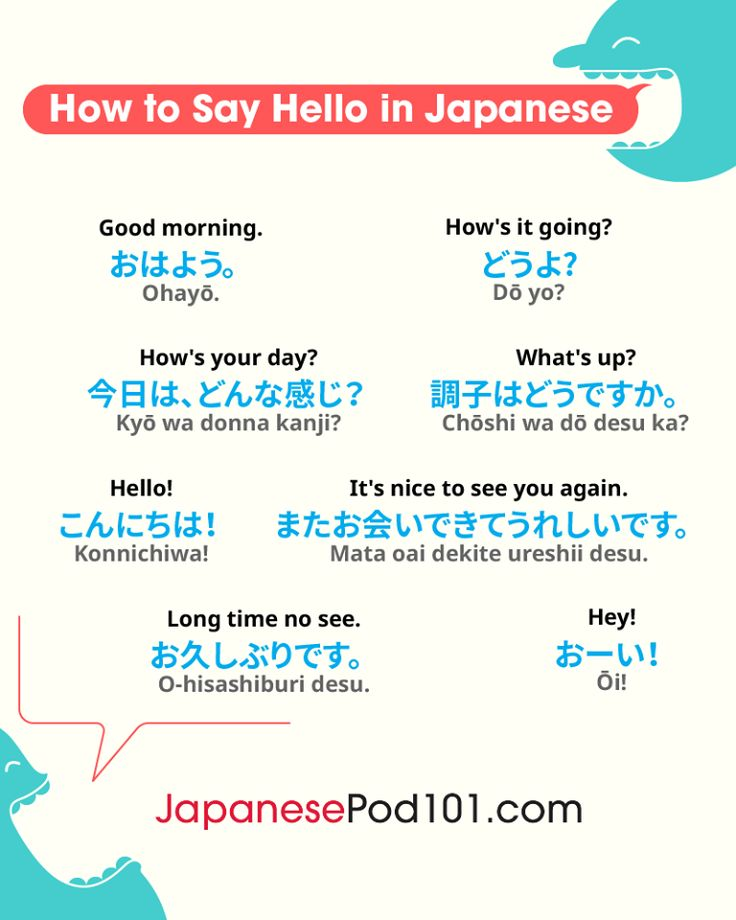 Useful Japanese greetings. Totally FREE Japanese lessons