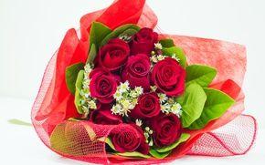 Обои цветы, flowers, романтика, flower, pretty, красные розы, i love you, cool, букет, розы, romantic, lovely, ...