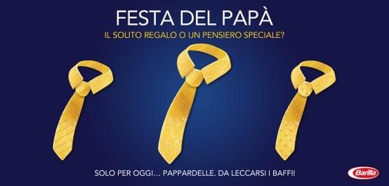 Buona #festadelpapà da #Barilla! #19marzo http://www.facebook.com/Barilla