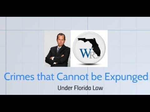Broward County Sealing and Expunging of Criminal Records Lawyer.  Criminal lawyer William Moore explains that not all arrests are eligible for sealing or expunction under Florida law. This video explain which crimes will not be considered for record work by the Florida Department of Law Enforcement. Criminal charges must meet additional criteria in order to be considered for removal from ones arrest record.