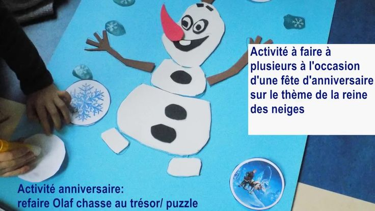 Olaf puzzle chasse au tresor