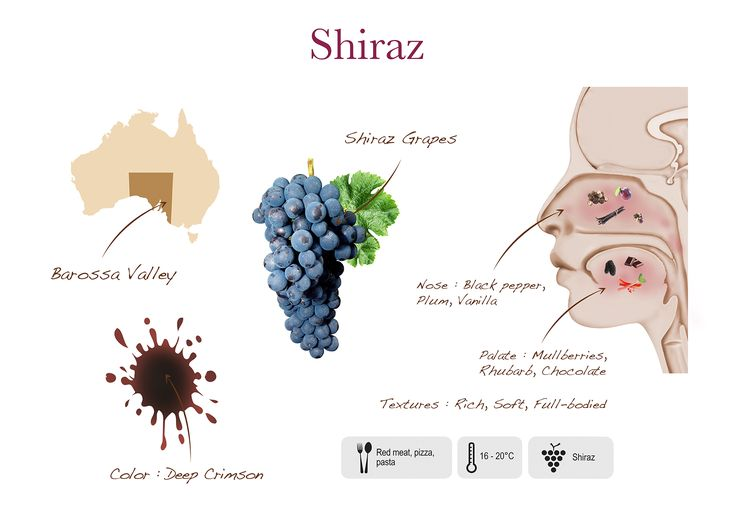 Two islands shiraz visual presentation