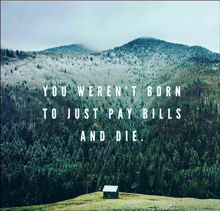 you weren't born just to pay bills and die motivational quote