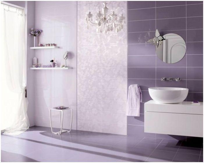 baño en colores malva