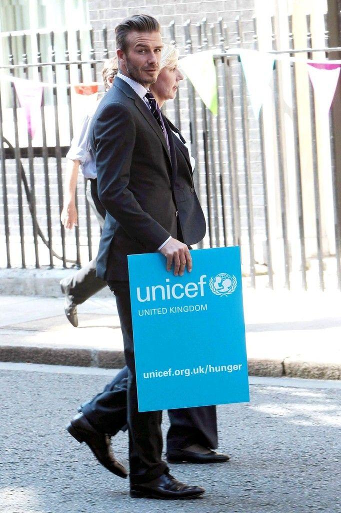 David Beckham Photos - David Beckham Teams Up With UNICEF - Zimbio