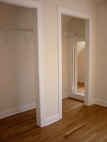 Another Pinner says: Secret passage way in closet: would be covered up by clothing. Place to hide weapons & safe. And Christmas presents lol