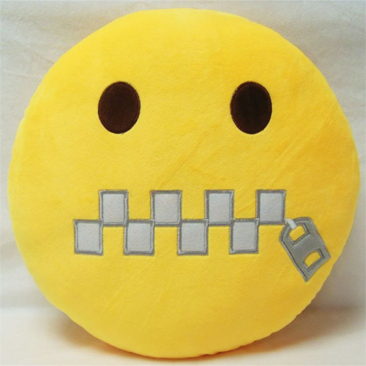New!Mouth-Sealed Ultra Soft Emoji Emoticon Pillow Cushion Fluffy Home Decor Toy
