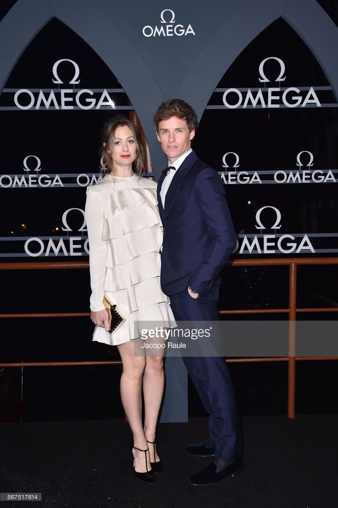 Hannah Bagshawe and Eddie Redmayne attend the OMEGA Aqua Terra at Palazzo Pisani Moretta on October 28, 2017 in Venice, Italy.