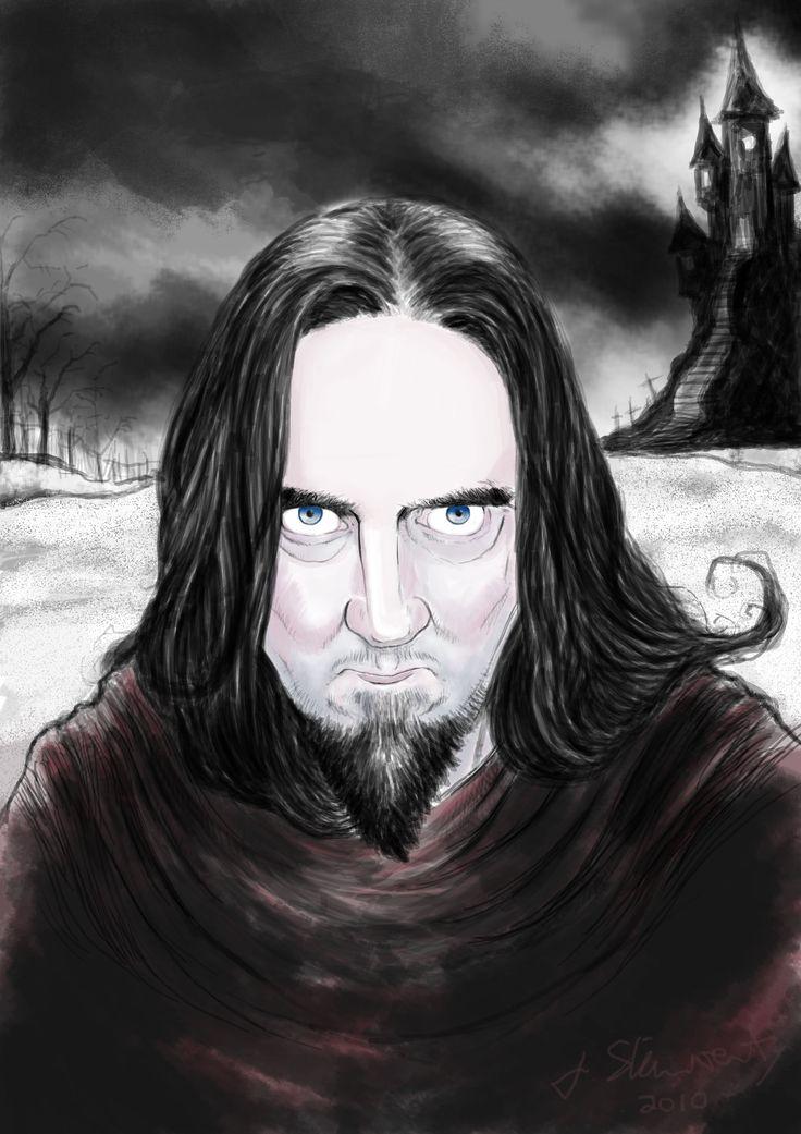 Byron. Digital caricature