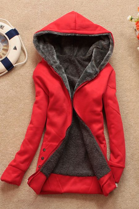 New Style Fashion Long Sleeve Light Red Long Cardigan Sweater (US$12.99)