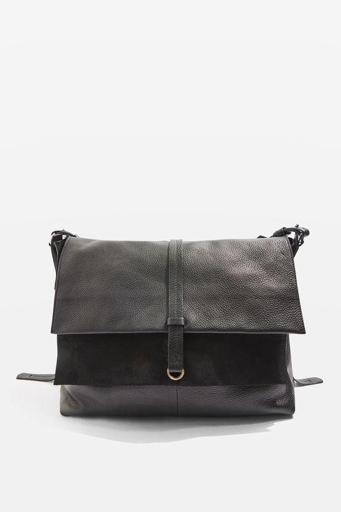 Premium Leather Slouch Bag