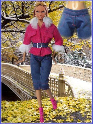 Barbie kleding  Barbie jas Barbie broek van MatyBor op Etsy